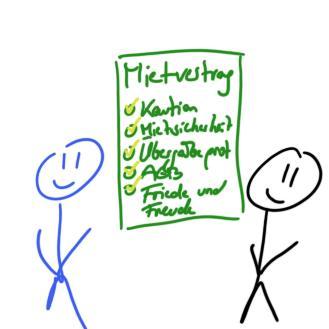 Symbolbild einer Beratung im Mietrecht